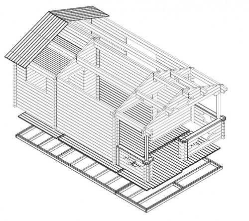 summerhouse with sauna sommerland