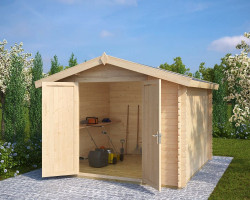 Andy XL Wooden Storage Shed 10'x10' 8m² 28mm 3 x 3 m