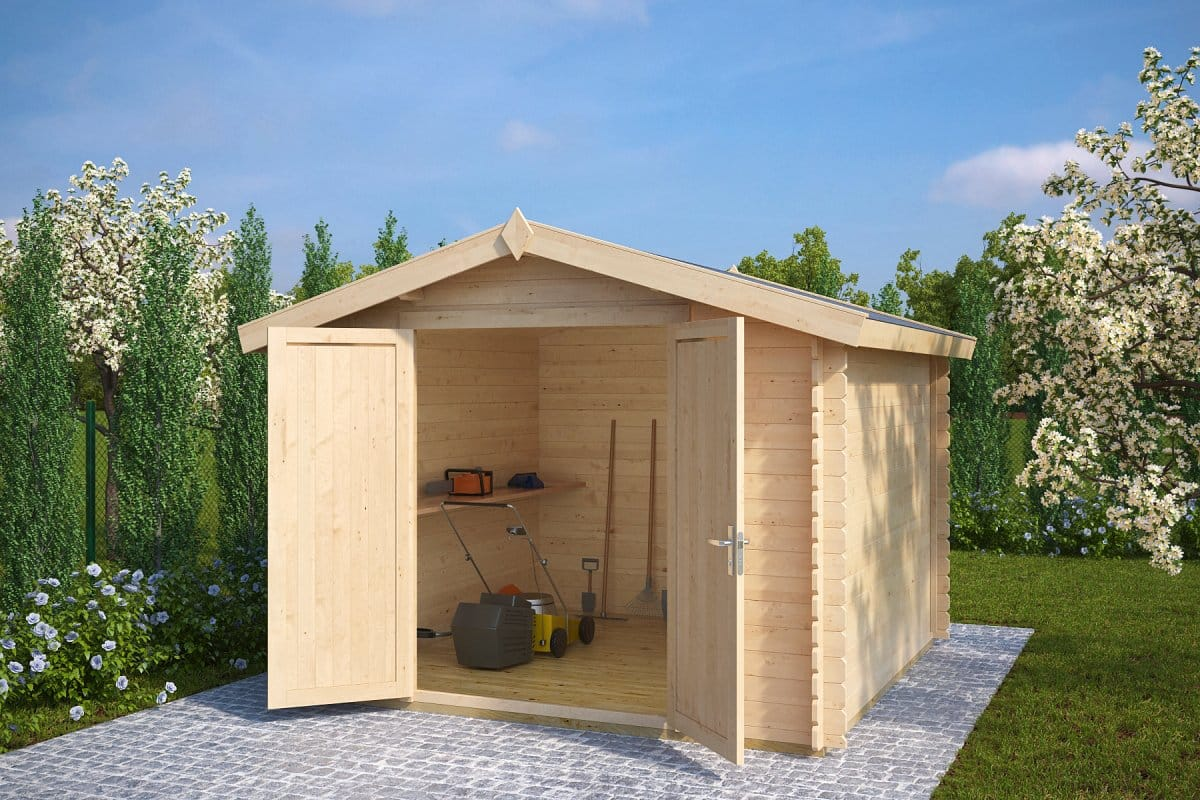 10x10 storage shed andy xl 8m 28mm 3 x 3 m summer for Garden shed 10x10