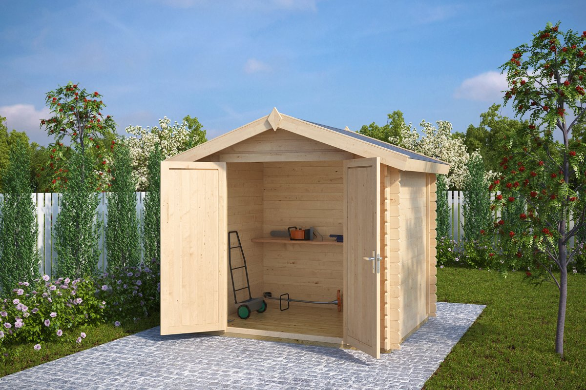 8x6 wooden storage shed andy s 4m 28mm 2 5 x 2 m for Garden shed 5 x 4
