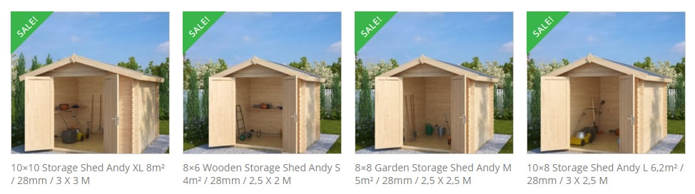 4 New Storage Sheds for 2016
