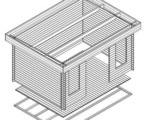 Garden Log Cabin Jacob D