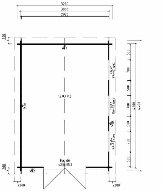 Workshop Shed Jacob F ground plan