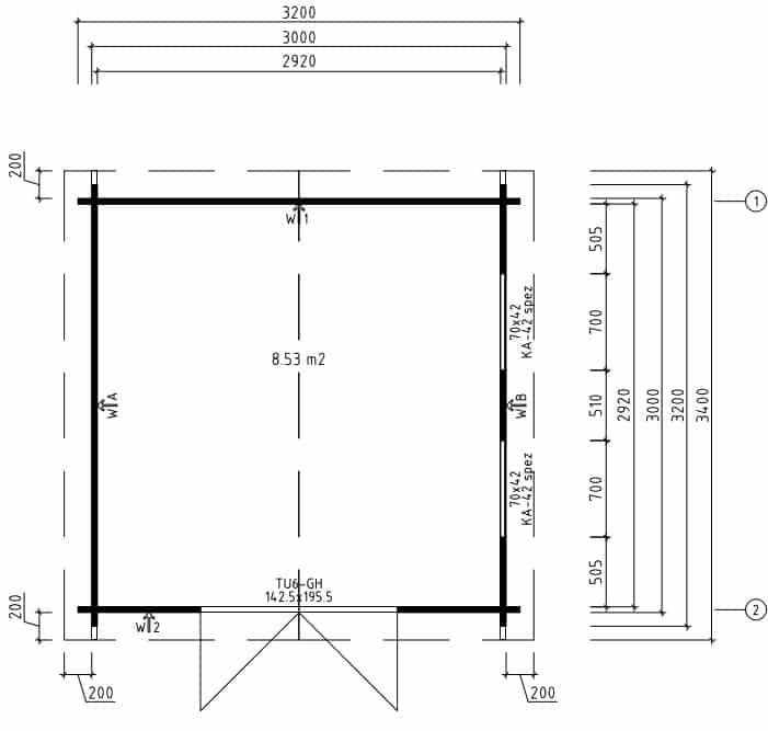 Wooden Workshop Nora F ground plan