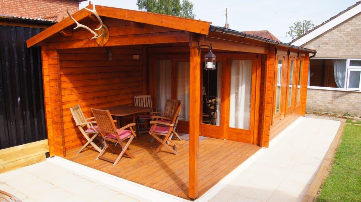 garden summer house with veranda eva e - Garden Sheds With Veranda