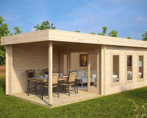 Contemporary Garden Summer House with Veranda Jacob E