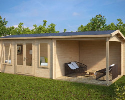 Garden Log Cabin with Veranda Eva D1