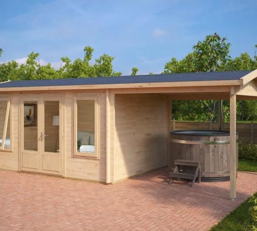 Garden Room With Canopy Eva D 12m² / 44mm / 3 X 4 M
