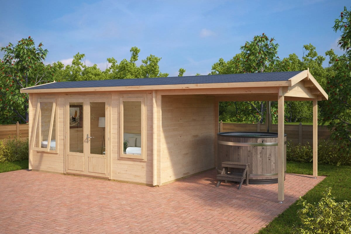 Garden room with canopy eva d 12m 44mm 3 x 4 m for Large garden room