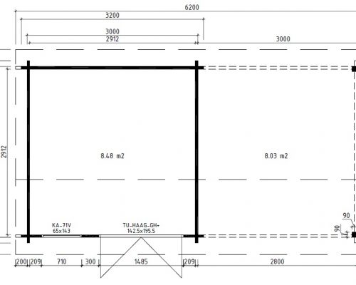 Garden room with canopy Nora D Ground Plan