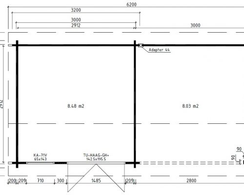 Summer House with veranda Nora D Ground Plan