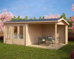 Garden room with veranda Nora D1