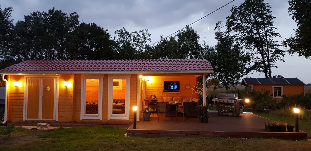 Garden Room with Shed and Canopy