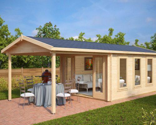 Garden Summer House with canopy Eva E