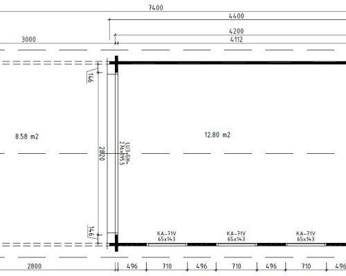 Garden Summer House with canopy Eva E ground plan