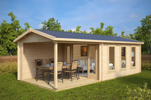 Garden summer house with Veranda Eva E