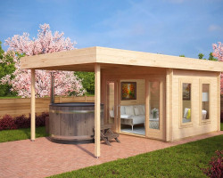Modern Garden Log Cabin with canopy Lucas E