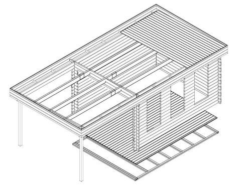 Modern Garden Summer House with Canopy Jacob E