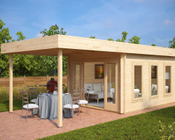 Modern Garden Summer House with Canopy Jacob E