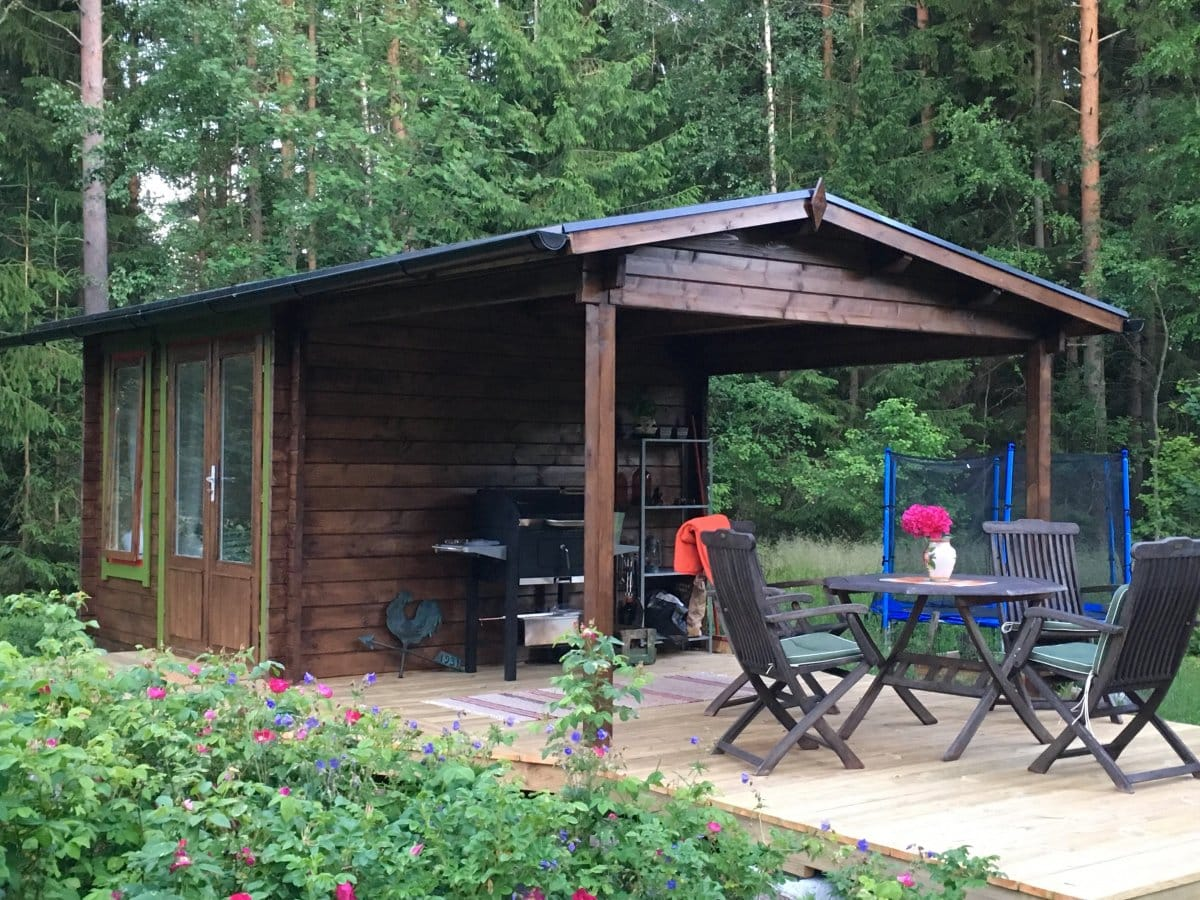 Garden Room with Canopy Nora D 9m² / 44mm / 3 x 3 m
