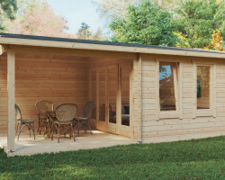 Garden Room with Veranda Nora E 9m² / 44mm / 3 x 6 m