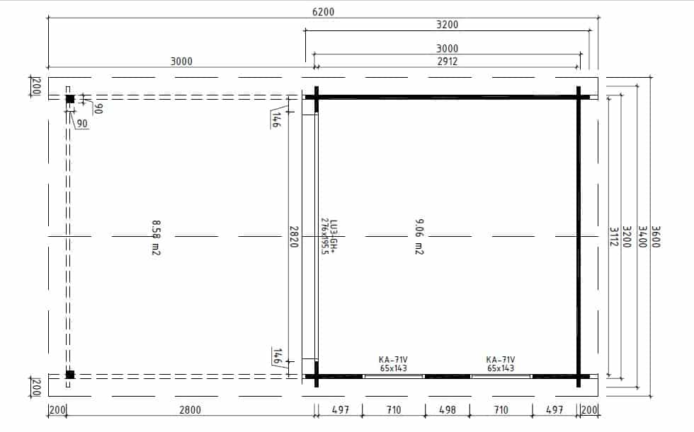 Summer House with Canopy Nora E ground plan