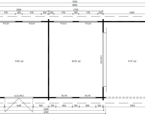 Large Garden Room with Shed ground plan