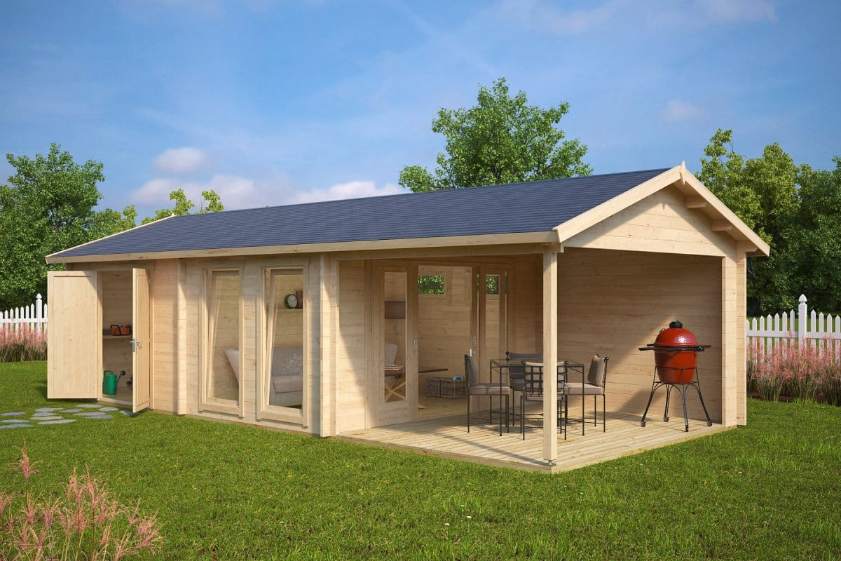 Choose Right Garden Log Cabin Summerhouse24 on cabin storage building plans