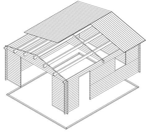 Large Wooden Garage B