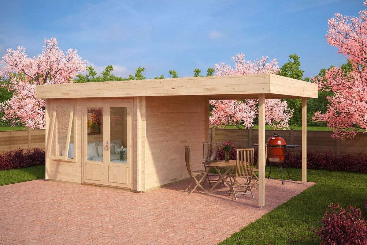 Contemporary garden room with canopy lucas d 9m 44mm 3 x 3 m summer house 24 - Contemporary canopy bed for a royal room ...