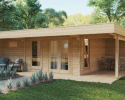 Gardne Sauna Cabin Hansa Lounge XXL 22m² / 70 mm / 8 x 5 m