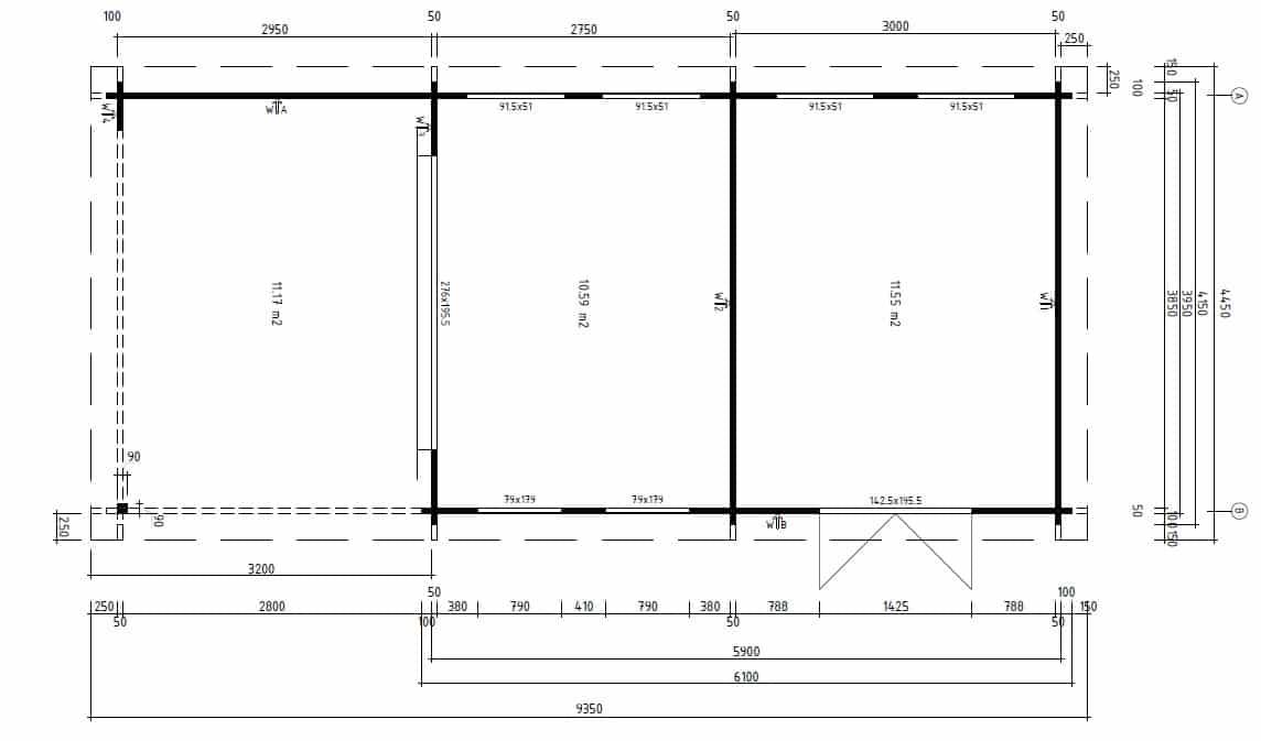 Large Garden Room with Storage Room Rio ground plan