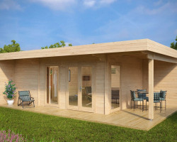 Summer House with Sauna Hansa Lounge XXL