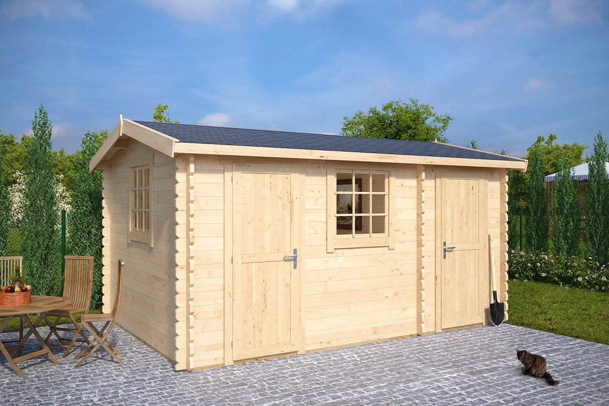 Summerhouse With Shed Bora 13m 44mm 15 39 X 10