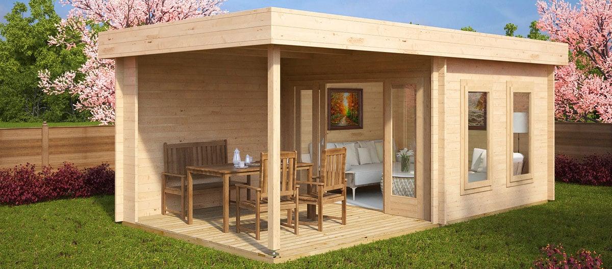 10 bestselling garden rooms in april 2016 summer house 24 - Garden summer houses with verandas ...