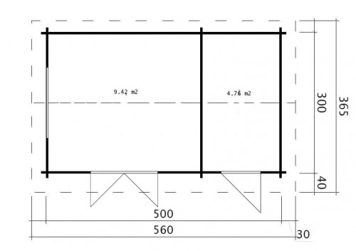 Garden Room and Shed Combined Super Fred ground plan