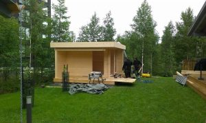 Assembly of Garden Room Mini Hansa Lounge
