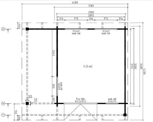 Garden Office-Garden Room Mini Hansa Lounge Ground Plan