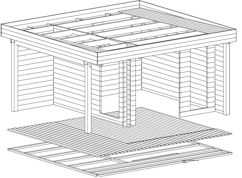 Garden Office-Garden Room Mini Hansa Lounge