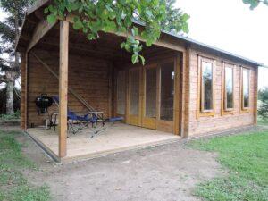 Garden Room Summer House with Large Veranda Eva E