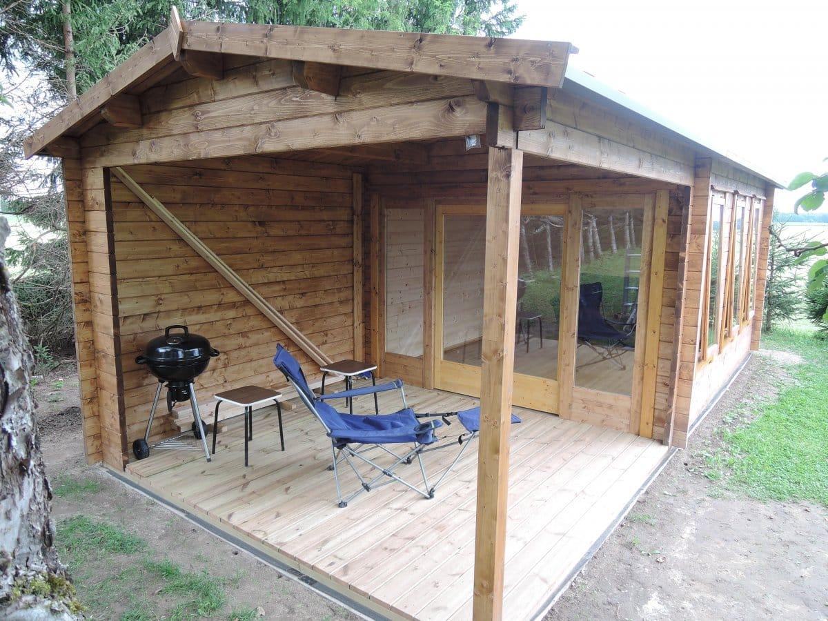 garden room summer house with large veranda eva e - Garden Sheds With Veranda
