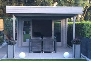 The Lucas E Garden Room Loga Cabin with Canopy