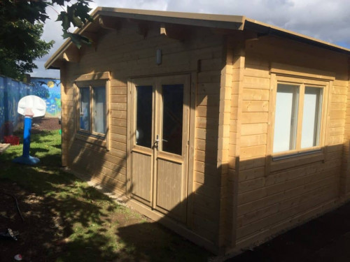 Log Cabin Classroom 60m2 / 70mm / 5 x 12 m