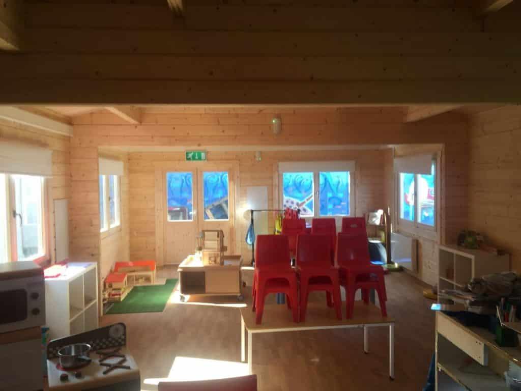 Log Cabin Classroom 60m2 / 70mm / 5 x 12 m