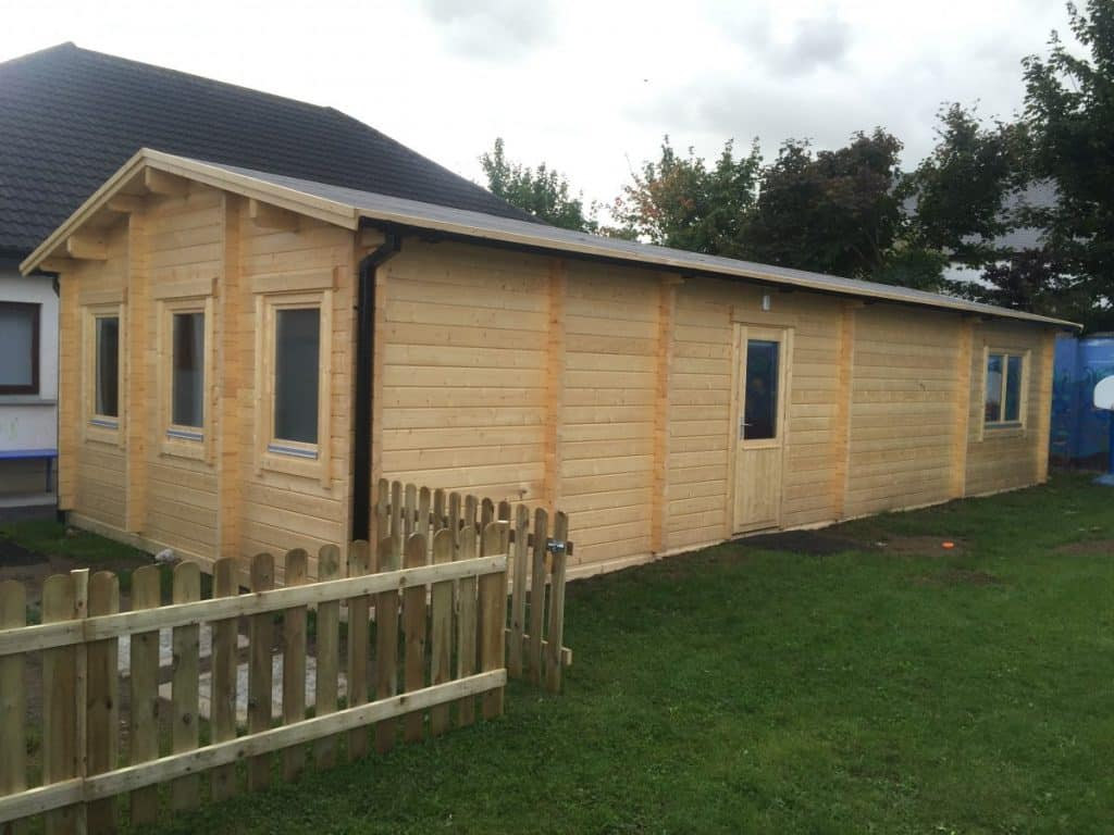 log cabin classroom 60m2 70mm 5 x 12 m summer house 24. Black Bedroom Furniture Sets. Home Design Ideas