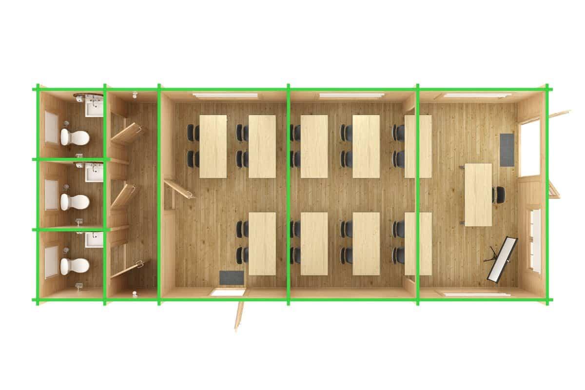 Log Cabin Classroom Ground Plan