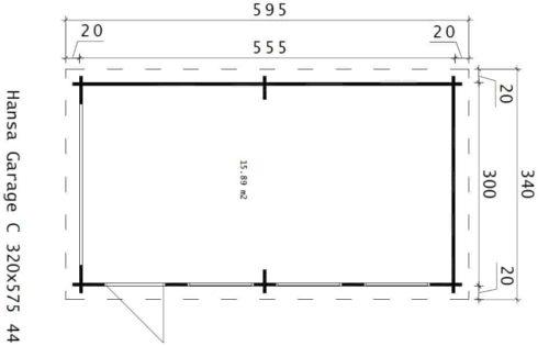 DIY Wooden Garage C ground plan