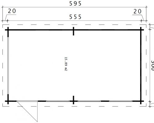 DIY Wooden Garage C ground plan