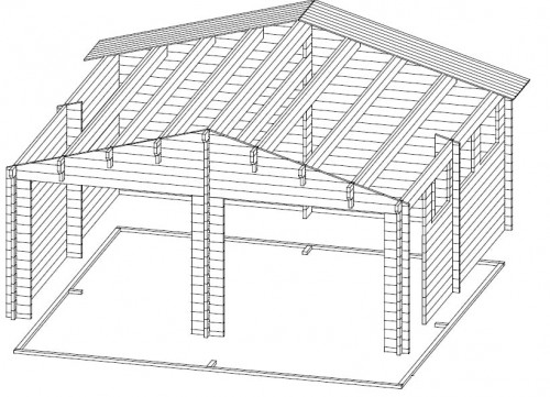 Double Wooden Garage E