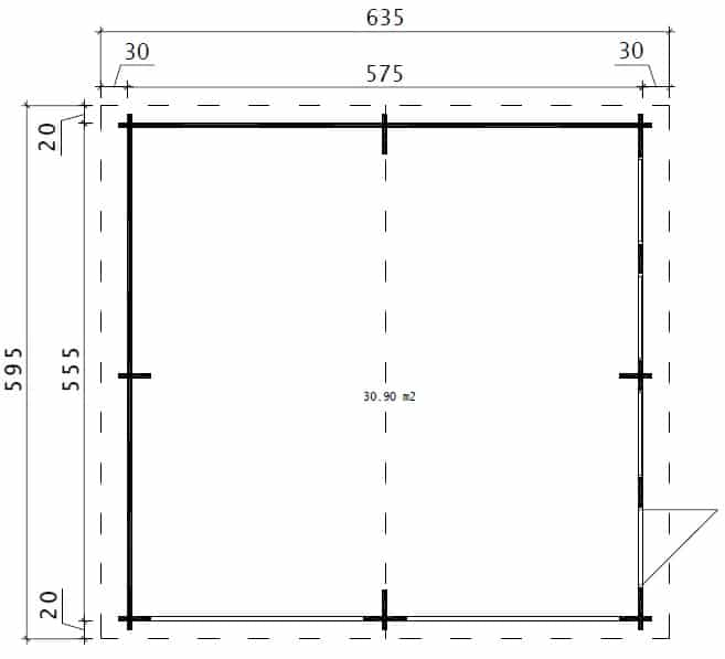 Double Wooden Garage E Ground Plan